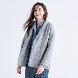 Madewell wool blend blazer cardigan